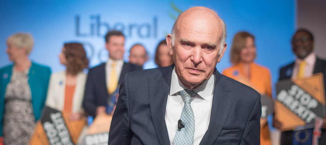 Vince Cable at the Lib Dems EU election launch