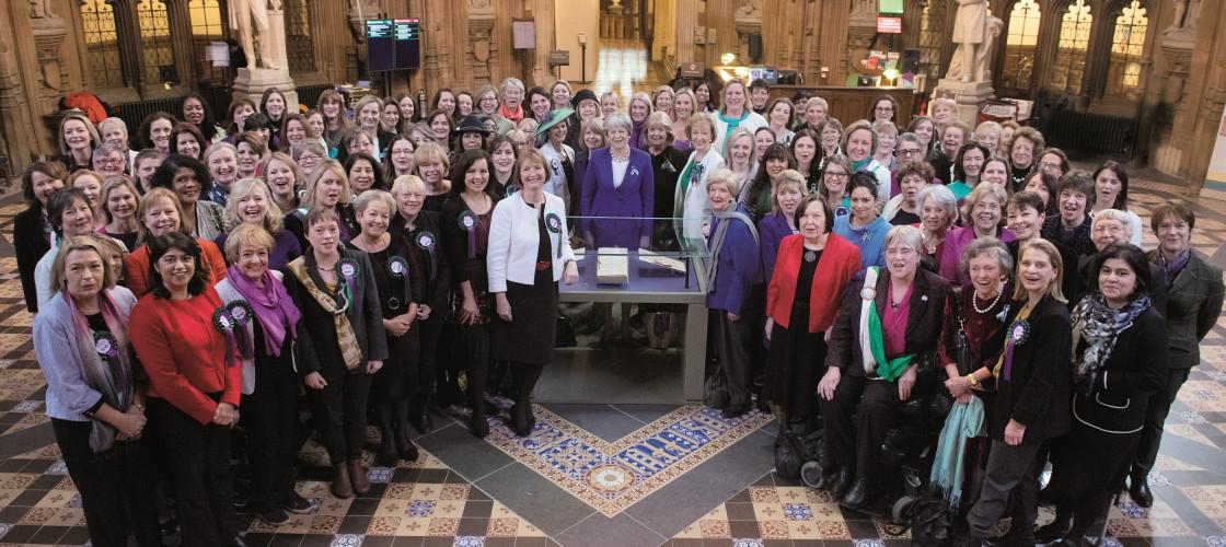 Women MPs mark International Women's Day last year