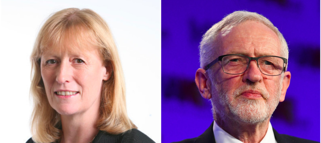 Joan Ryan and Jeremy Corbyn