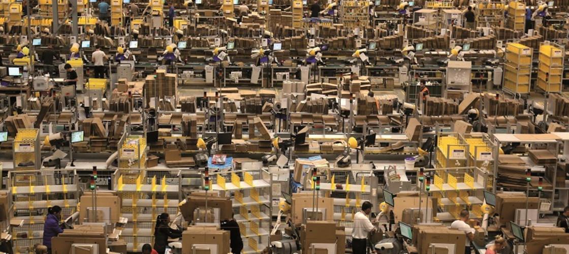 Amazon's Fulfilment Centre in Peterborough
