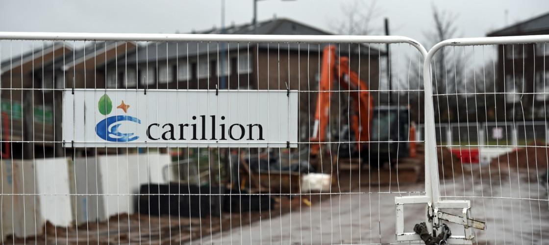 A Carillion sign at Midland Metropolitan Hospital in Smethwick