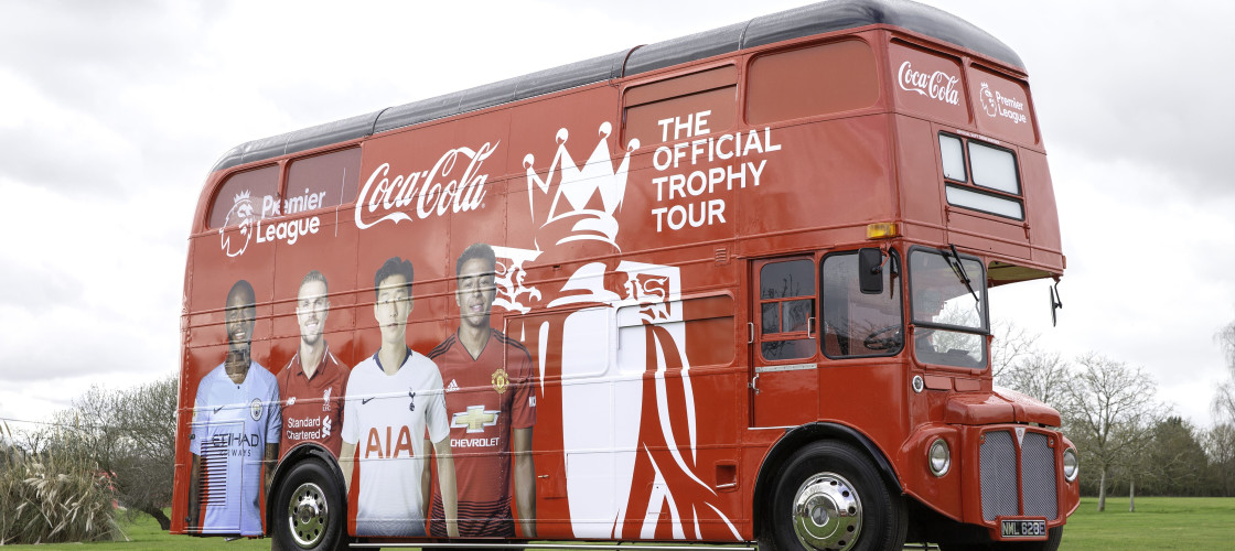 Coca-Cola European Partners has revealed the dates and locations for the Official Coca-Cola Premier League Trophy Tour