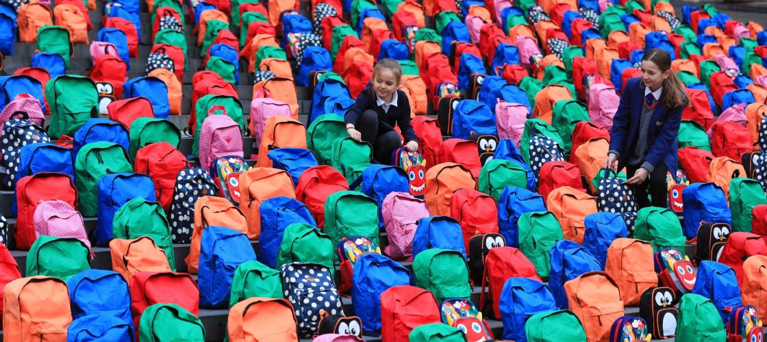 School bags at St Pauls