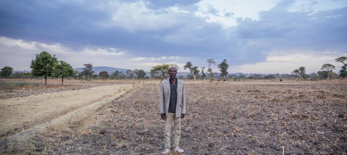 Gebre at his farm in Alaba, southern Ethiopia
