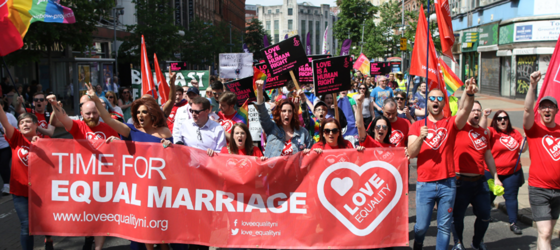 Equal marriage protest