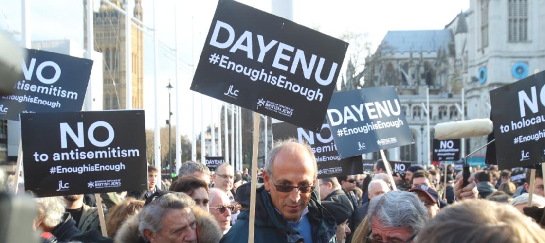 Anti-semitism demo