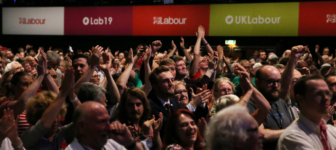 Delegates vote at Labour party conference 2019