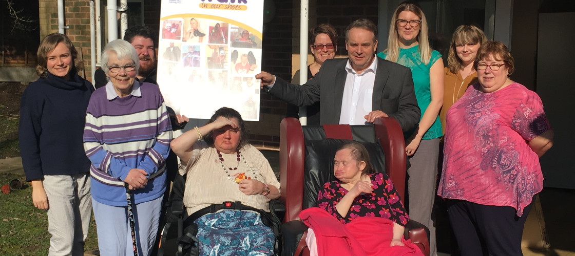 Tiverton and Honiton MP Neil Parish visited a service run by national learning disabilities charity Hft on Friday as part of a campaign by the charity.