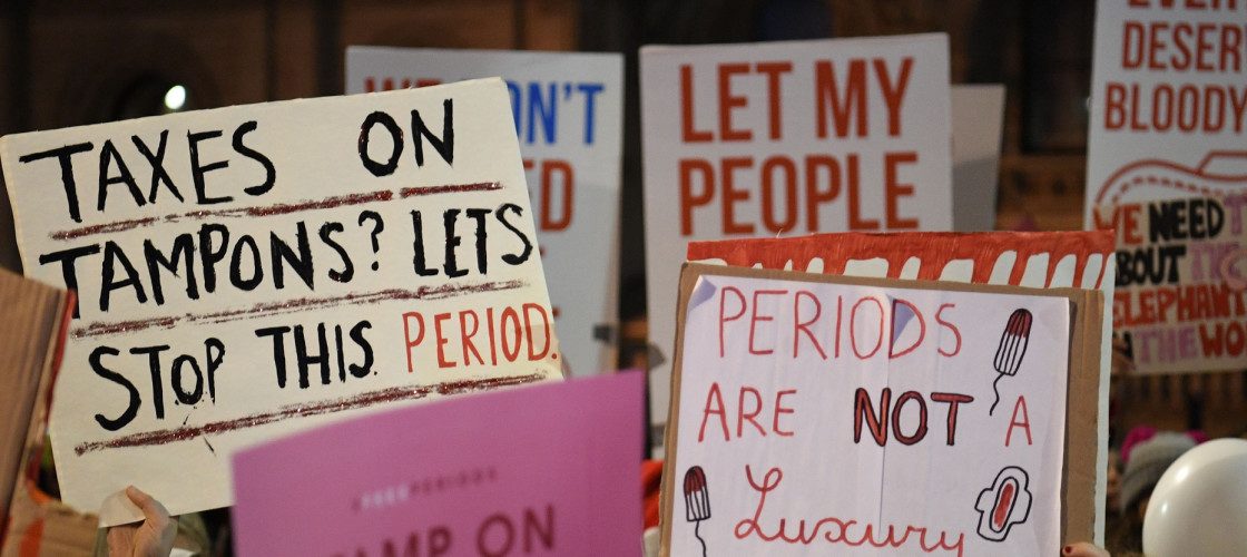 Protests against period poverty