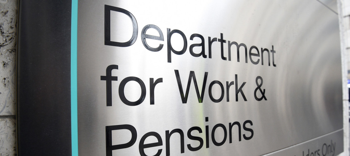 Department of Work and Pensions signage