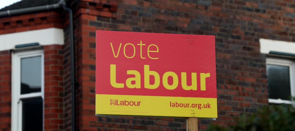 Vote Labour poster