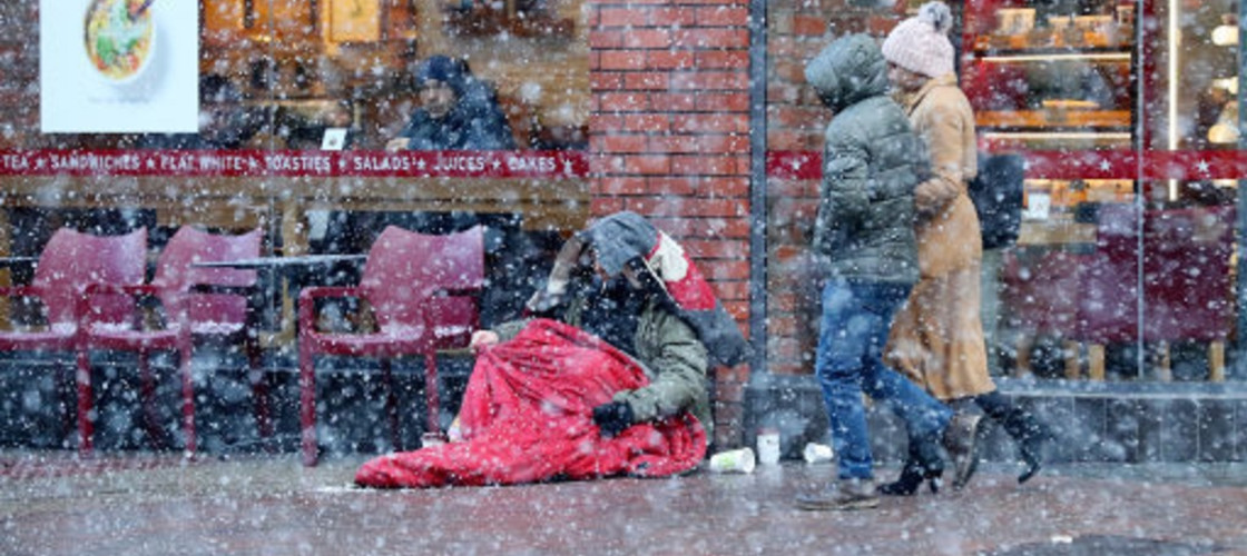 Rough sleeping in winter