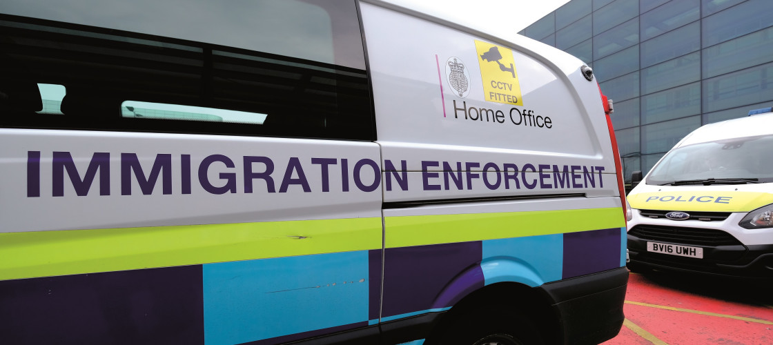 Home Office immigration enforcement van