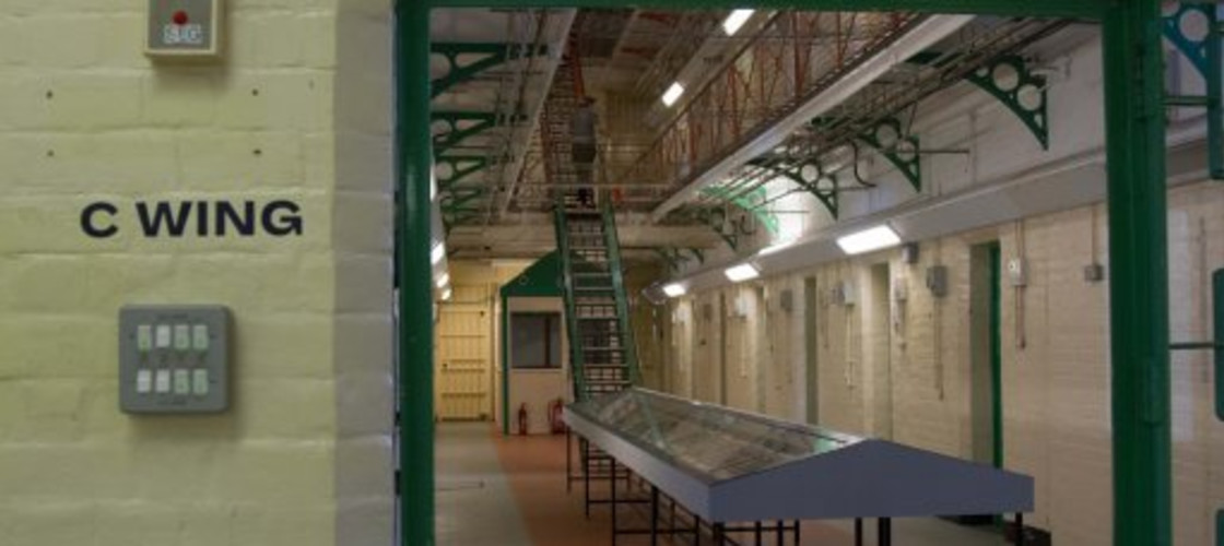 A hallway inside a UK prison