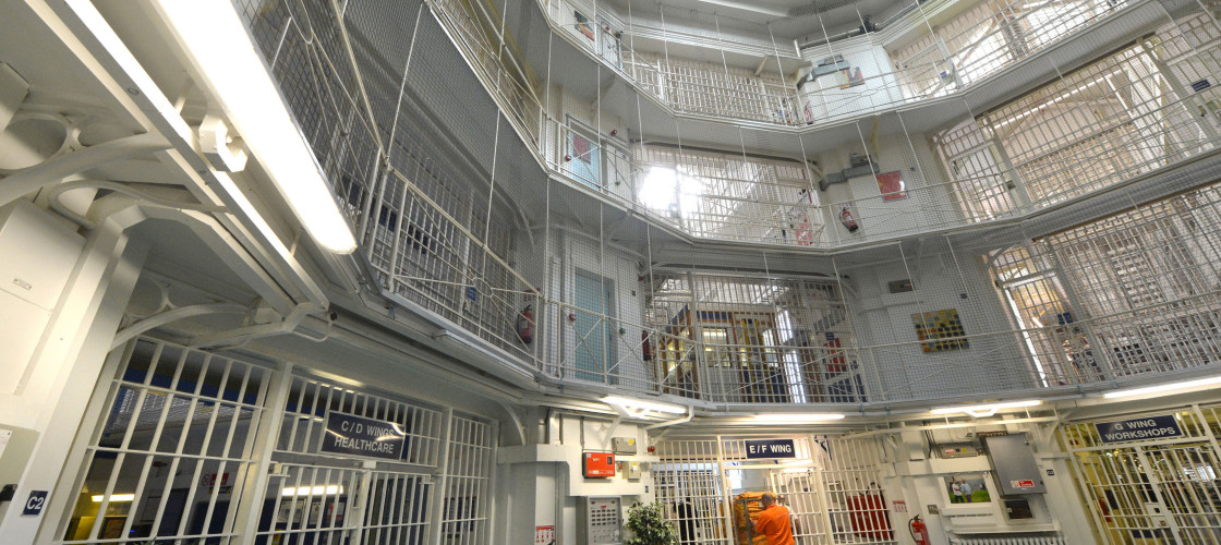 A general view of the inside of a prison