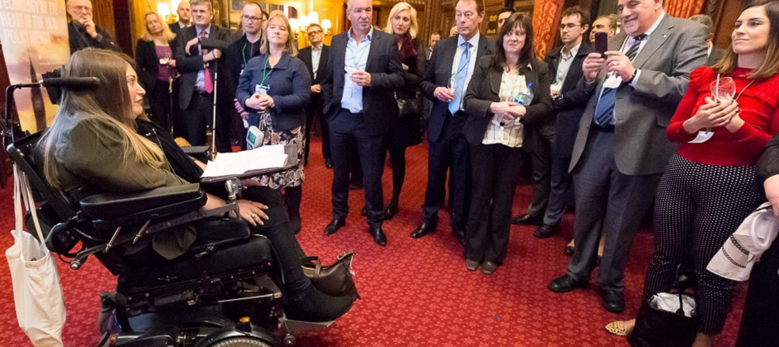 Hannah Rose gives a speech at AT APPG event in Parliament