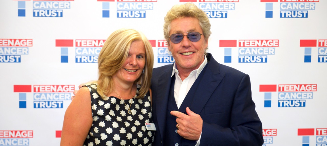 Roger Daltrey CBE, Honorary Patron of Teenage Cancer Trust and Jane Sutton, Teenage Cancer Trust Ambassador