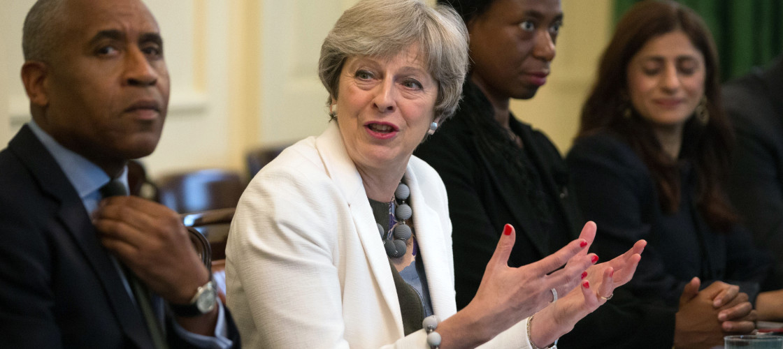 Theresa May chairs a Race Disparity Audit roundtable