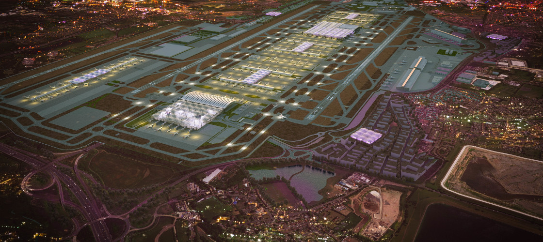 A CGI example of the Heathrow expansion