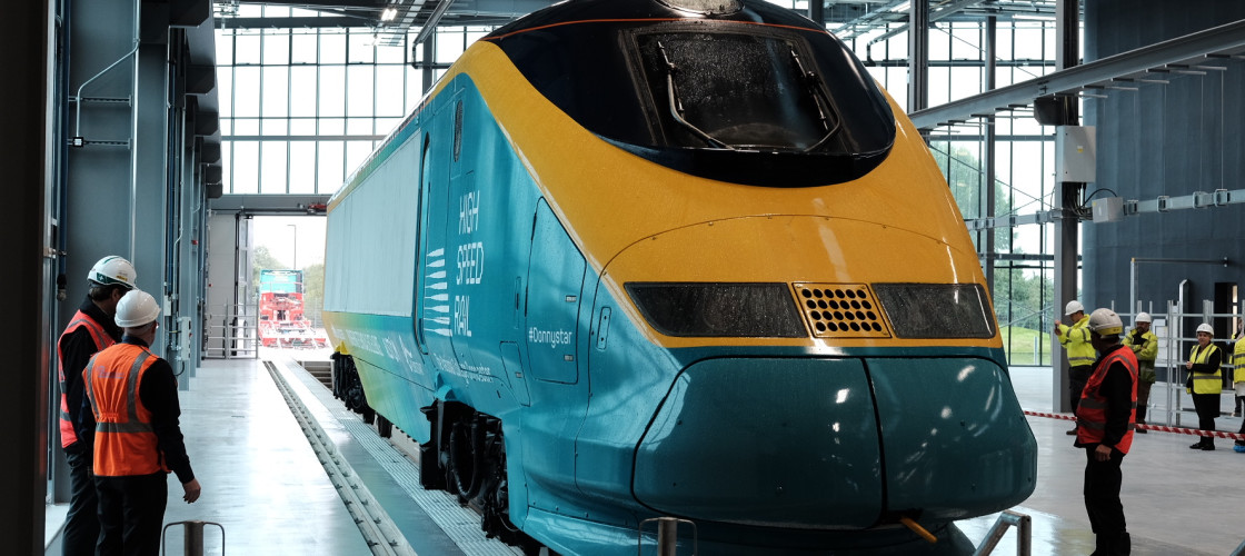 The 'Donnystar' High Speed train is unveiled in Doncaster