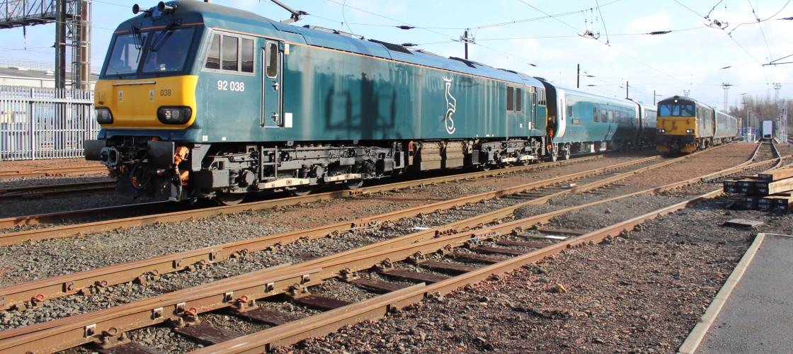 Class 92 Caledonian Sleeper service