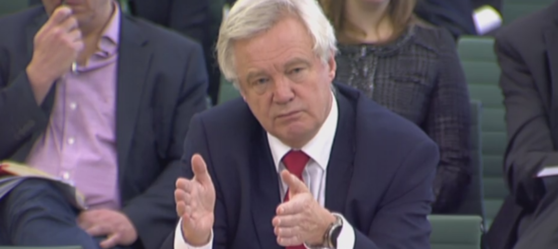 David Davis before the Brexit Select Committee