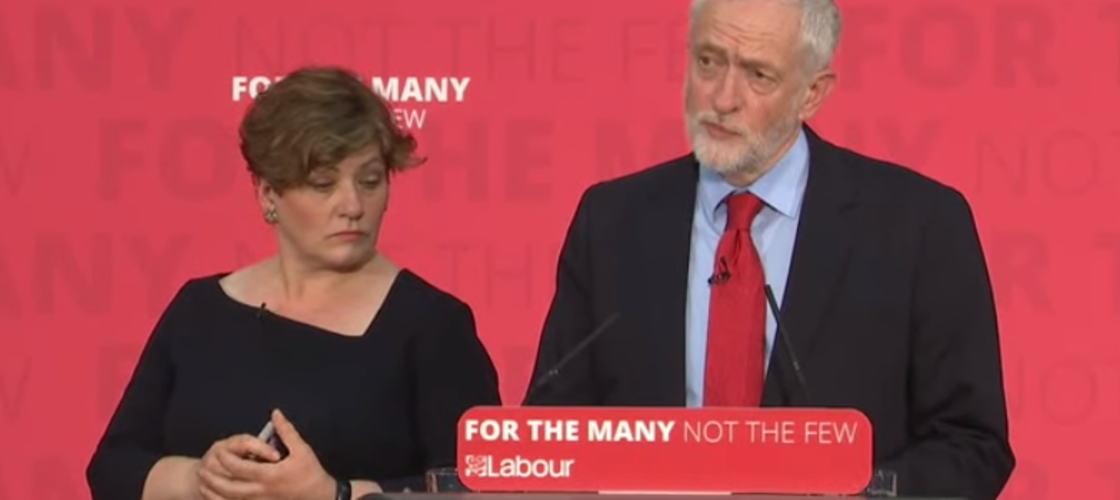 Emily Thornberry and Jeremy Corbyn at an event in Basildon
