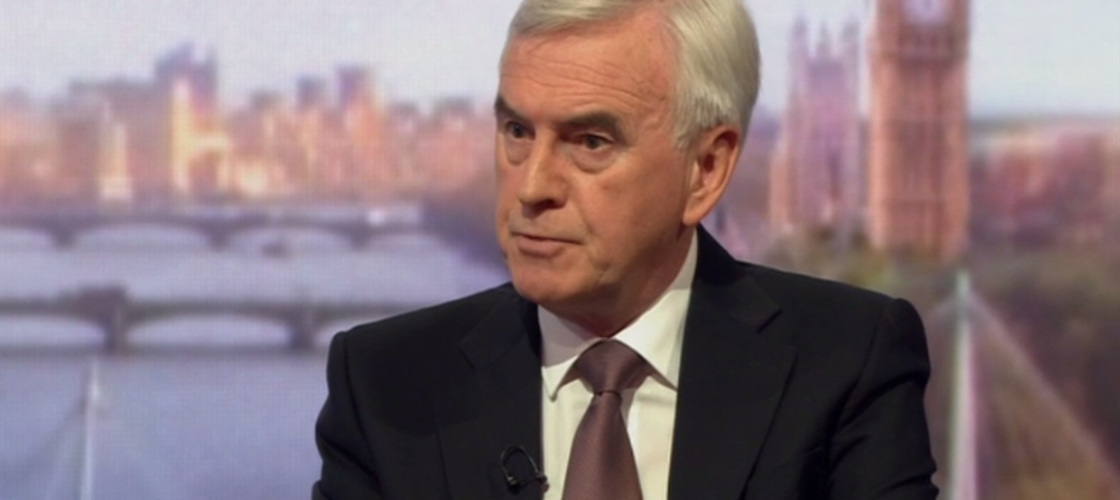 John McDonnell on the BBC's Andrew Marr Show