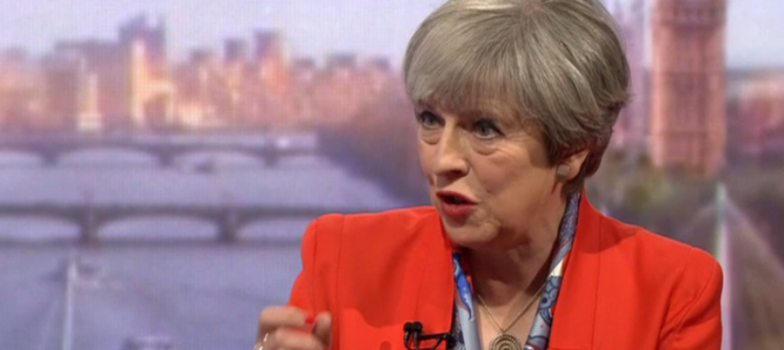 Theresa May on the Andrew Marr Show, 30/04/17