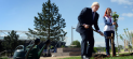 Boris Johnson plants a tree