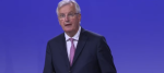 Michel Barnier at this morning's press conference in Brussels