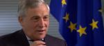 Antonio Tajani speaking to Newsnight