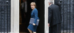 Nicola Sturgeon arriving at Downing St this morning