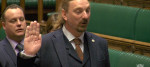 SNP MP Chris Law taking his oath in the House of Commons