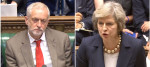 Jeremy Corbyn and Theresa May in the House of Commons