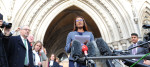 Gina Miller speaking outside the High Court earlier this month