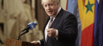 Foreign Secretary Boris Johnson speaking at the UN security council.