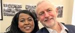 Mandy Richards and Jeremy Corbyn
