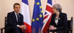 Theresa May and Emmanuel Macron meet at the G7 summit in Sicily