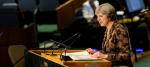 Theresa May at the UN