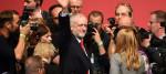 Jeremy Corbyn celebrates his decisive victory