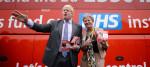 Boris Johnson and Gisela Stuart during the EU referendum campaign