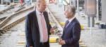 Transport Secretary Chris Grayling with Network Rail chief executive Mark Carne