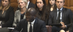 Universities Minister Sam Gyimah giving evidence this afternoon