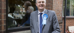 Stewart Jackson outside the Peterborough Conservative club