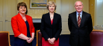 Theresa May, Arlene Foster and Martin McGuinness