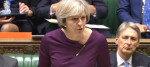 Theresa May was addressing the House of Commons upon her return from Brussels