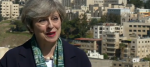 Theresa May speaking to ITV News