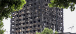 A picture of Grenfell tower mid-section