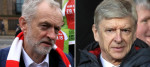 Jeremy Corbyn and Arsene Wenger